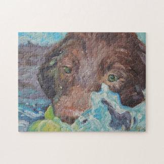 """""""Got It"""" Chocolate Labrador retriever Puzzle"""