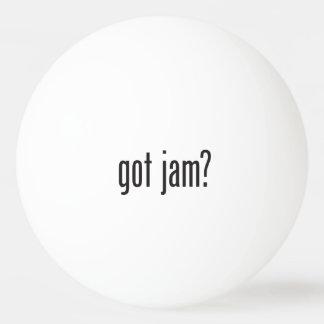 got jam Ping-Pong ball