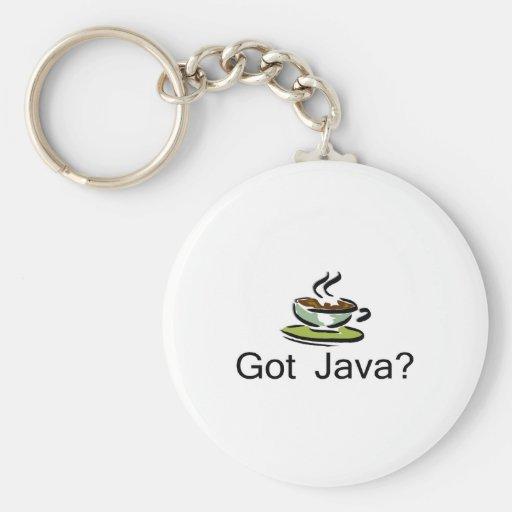 Got Java Basic Round Button Keychain