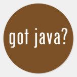 got java? round sticker