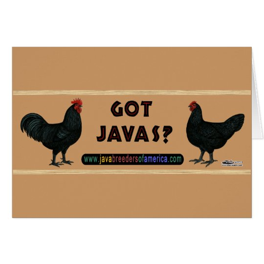 Got Javas? Card