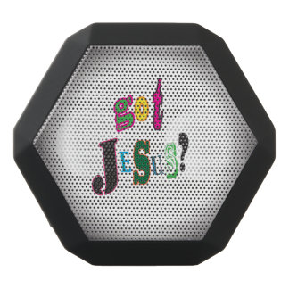 Got Jesus Black Oval Abstract Black Bluetooth Speaker