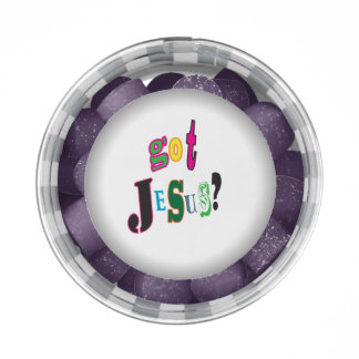 Got Jesus Black Oval Abstract Chewing Gum