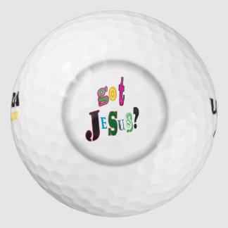 Got Jesus Black Oval Abstract Golf Balls
