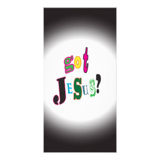 Got Jesus Black Oval Abstract Photo Card
