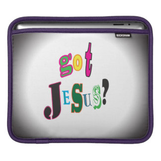 Got Jesus Black Oval Abstract Sleeve For iPads