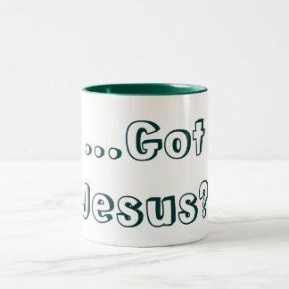 Got Jesus? Green Two-Tone Coffee Mug