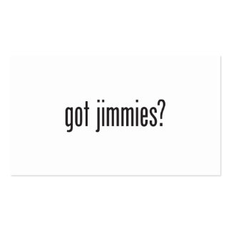 got jimmies Double-Sided standard business cards (Pack of 100)