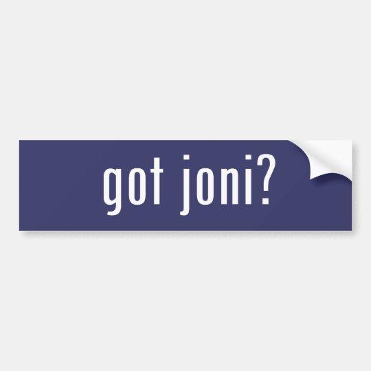 got joni? bumper sticker