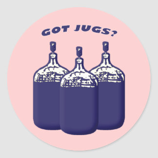 Got Jugs Classic Round Sticker