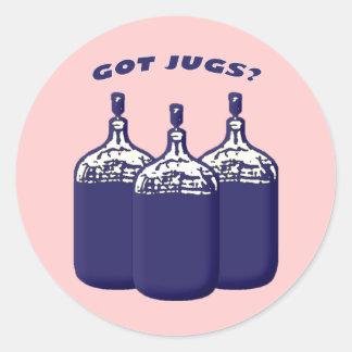 Got Jugs Classic Round Sticker