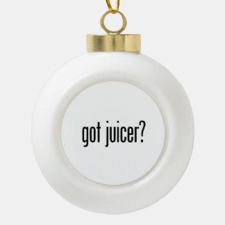 got juicer ceramic ball christmas ornament