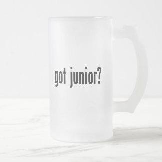 got junior? frosted glass beer mug