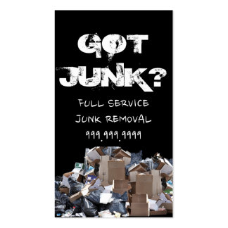 Got Junk Yard Removal Recycling Business Card