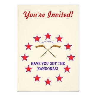 Got Kahoonas Hockey Invitation