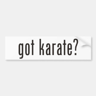 got karate? bumper sticker