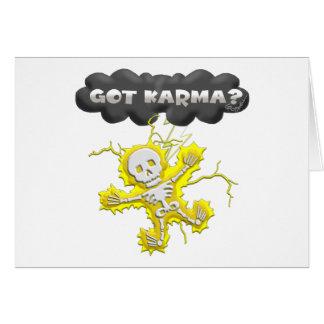 Got Karma Greeting Card