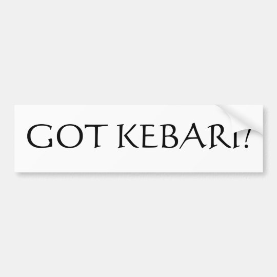Got Kebari? Bumper Sticker
