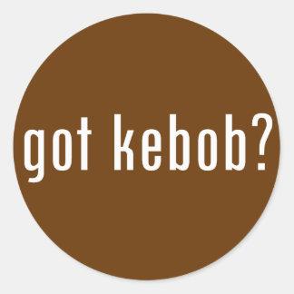 got kebob? classic round sticker