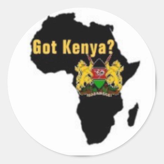"""""""got kenya"""" t-shirt and etc classic round sticker"""