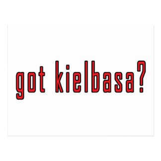 got kielbasa? postcard