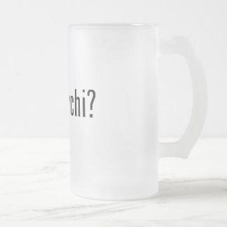 got kimchi? frosted glass beer mug