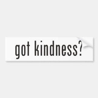 got kindness? bumper sticker