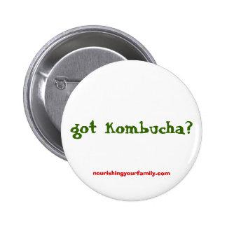 got kombucha?, nourishingyourfamily.com 2 inch round button