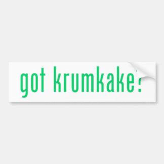 got krumkake? (green) bumper sticker