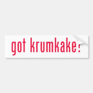 got krumkake? (red) bumper sticker