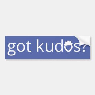 Got Kudos? Bumper Sticker