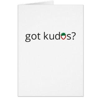 Got Kudos? Card