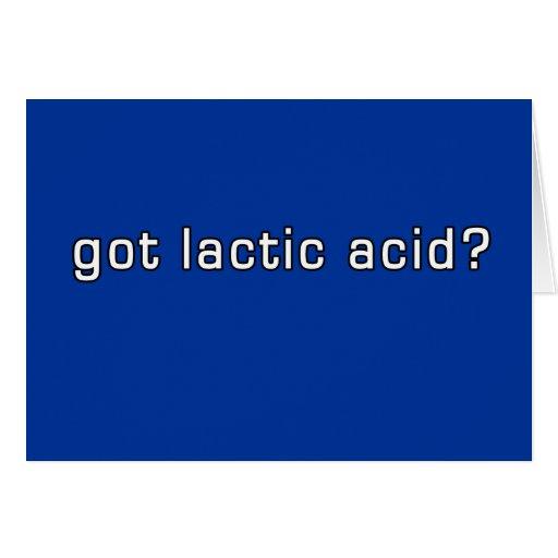 Got Lactic Acid? Funny Running Design Greeting Card