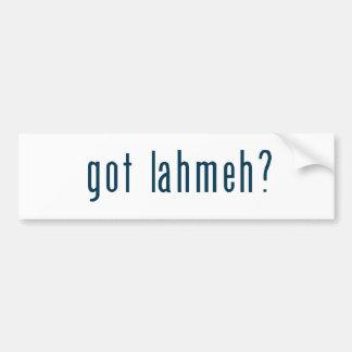 got lahmeh bumper sticker