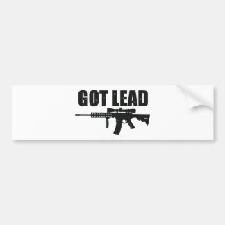 got lead 2 bumper sticker