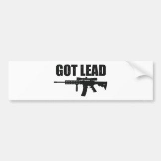 got lead 2 car bumper sticker