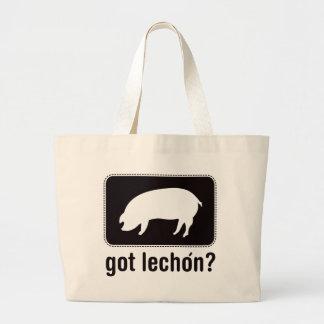 Got Lechon - Black Large Tote Bag