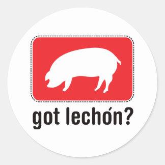 Got Lechon - Red Classic Round Sticker
