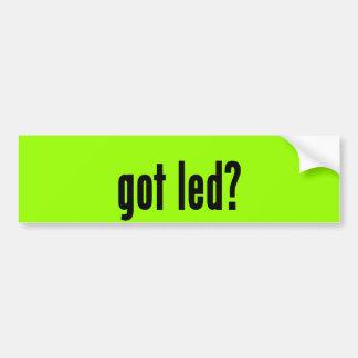 got led? bumper sticker