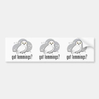 got lemmings? car bumper sticker