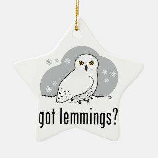 got lemmings? Double-Sided star ceramic christmas ornament
