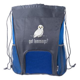 got lemmings? drawstring backpack