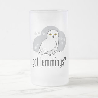 got lemmings? frosted glass beer mug