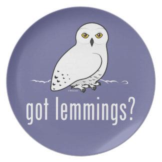got lemmings? melamine plate