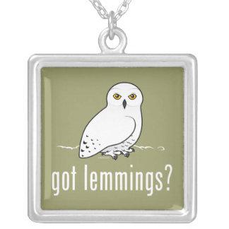got lemmings? square pendant necklace