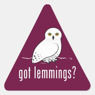 got lemmings? triangle sticker