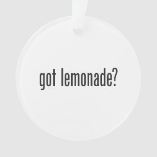 got lemonade
