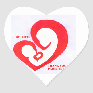 Got Life heart logo Heart Sticker
