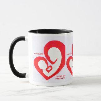 Got Life heart logo Mug