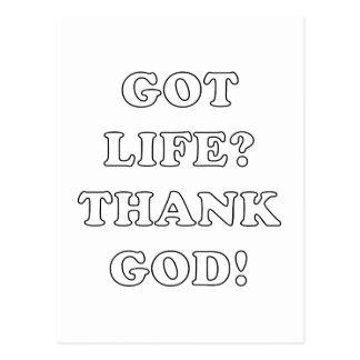 GOT LIFE? (THANK GOD!) POSTCARD